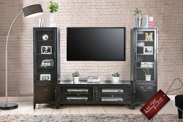 Black Metal Entertainment Center