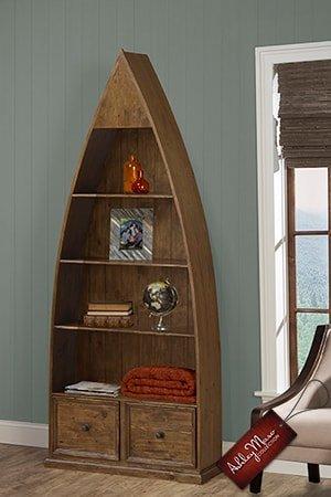 Boat Shaped Bookshelf