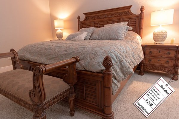Brown Wooden Bedroom Set