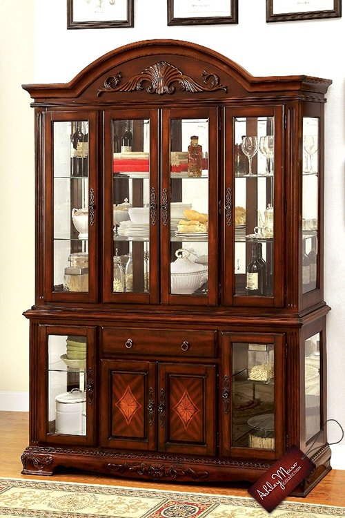 Classic Mohagany China Cabinet