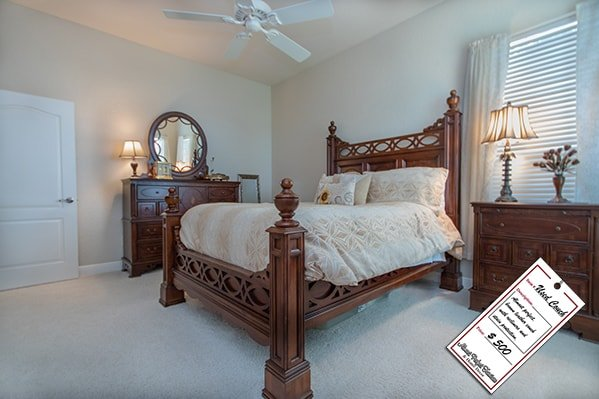 Dark Brown Wood Bedroom Set
