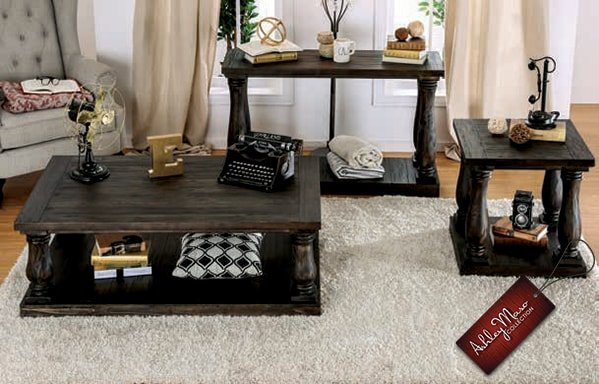 Dark Brown Wooden Coffee Tables