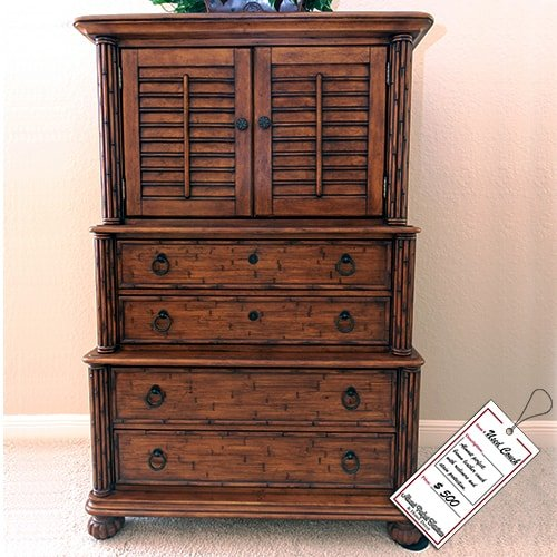 Dark Brown Wooden Dresser