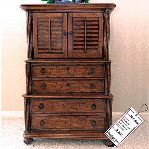 Dark Brown Wooden Dresser