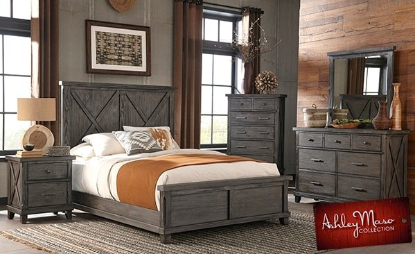 Gray Wood Bedroom Set