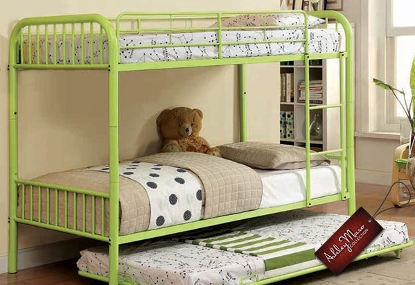 Green Metal Bunk Bed