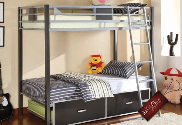 Grey Metal Bunk Bed