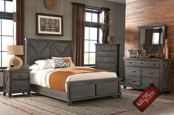 Grey Wooden Bedroom Set