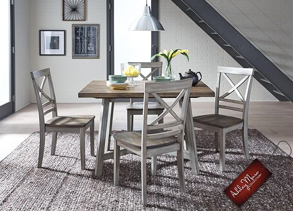 Grey Wooden Dining Set