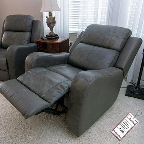 Grey-leather-recliner-open