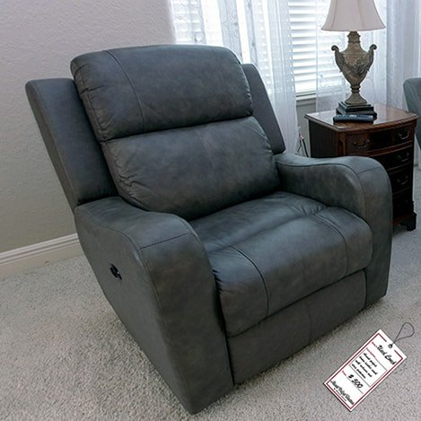 Grey-leather-recliner