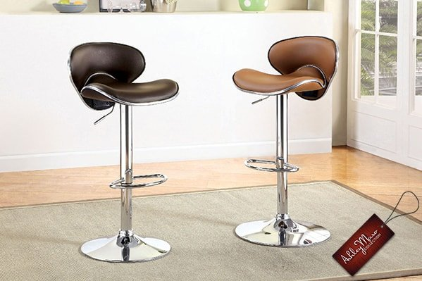 Leather and Metal Stools