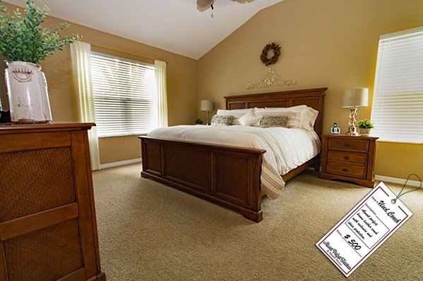 Light Brown Wooden Bedroom Set