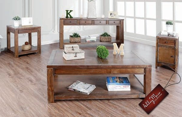 Light Brown Wooden Coffee Tables
