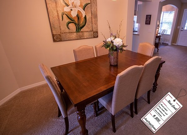 Light Brown Wooden Dining Set