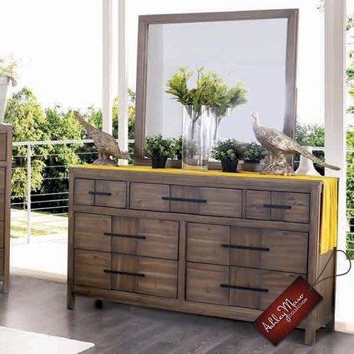Light Brown Wooden Dresser