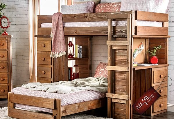 Light Wood Bunk Bed