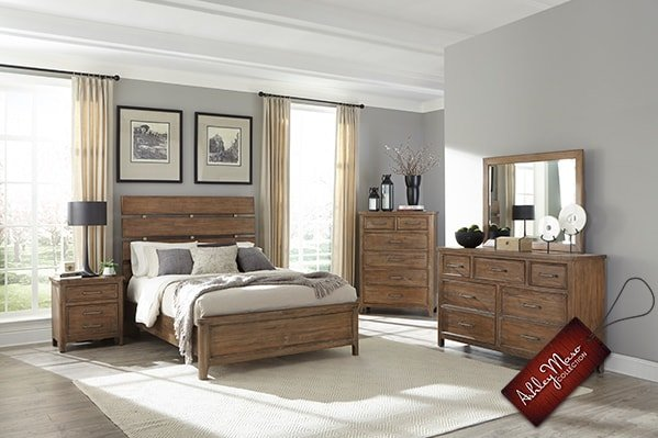 Light Wooden Bedroom Set