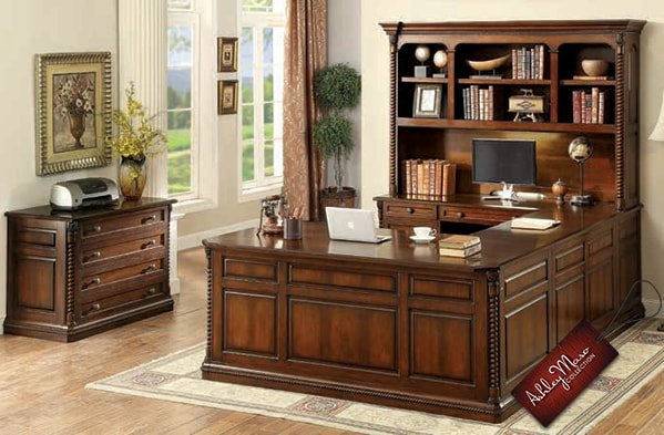 Mahogany Home Office Furniture Set