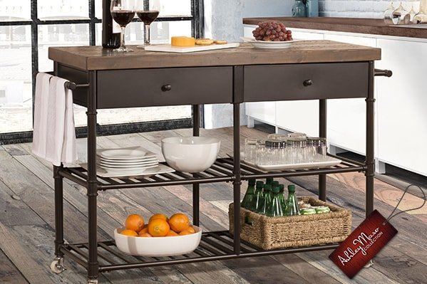 Metal Kitchen Cart