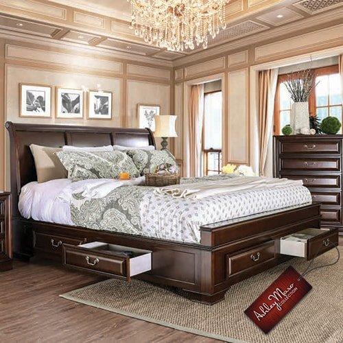 Queen Bed with Drawers