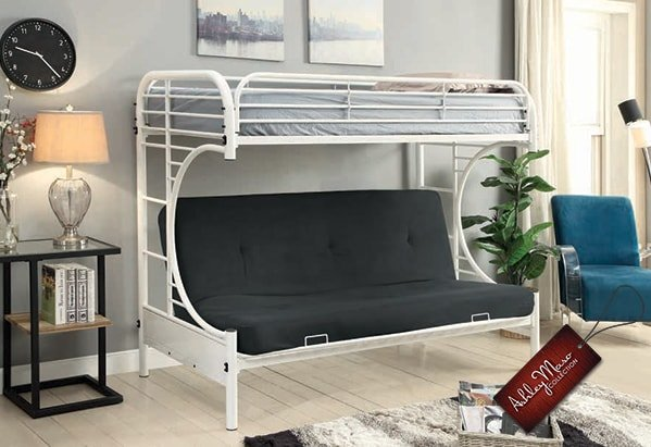 White Metal Bunk Bed