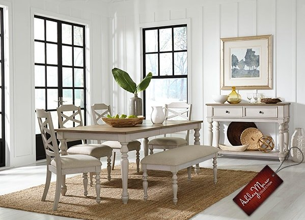 White Rustic Dining Set