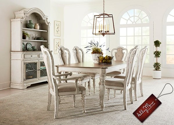 White Wood Dining Room