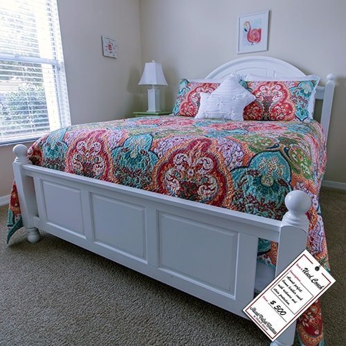 White Wooden Queen Bed