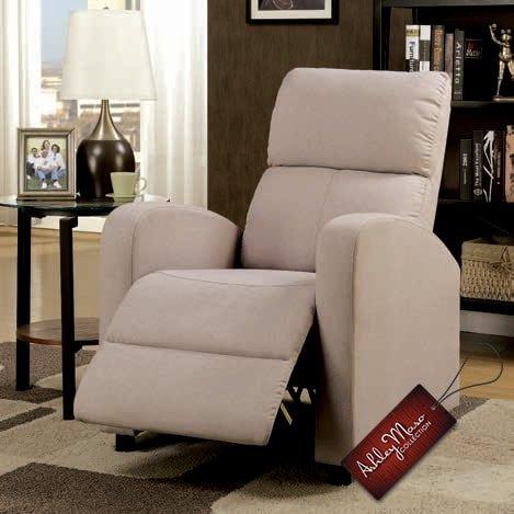 cream recliner
