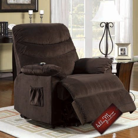 dark brown recliner