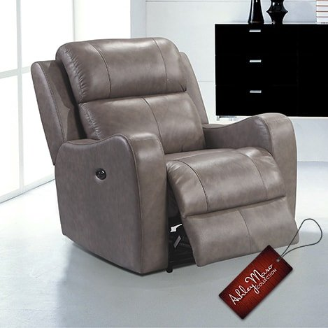 light grey recliner